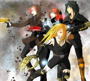 Main Heroines of The Silent Assassin Series by the-silentassassinAP
