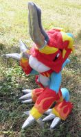 Flamedramon custom plush 4 by Kitamon