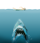 Jaws Low Poly Art by arthollo