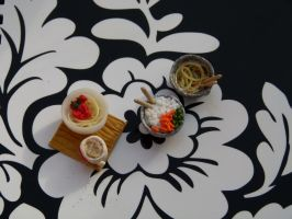 Cute Polymer Clay Lunch Bowls by greencrazy1999