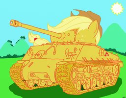 AppleJack - Sherman M4A3E8 (Easy Eight) by AlVchFokarev