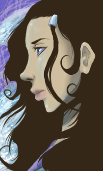 Katara... with hair everywhere by Carina0