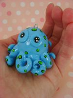 Cutesy Baby Blue Octopus by monsterkookies