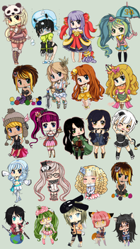 GO: Temp shop chibi dump by Lunare-chan