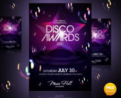 Disco Awards Party Flyer by Party-Flyer