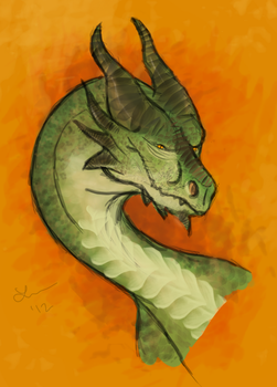 Horned Dragon by Cheddarness8