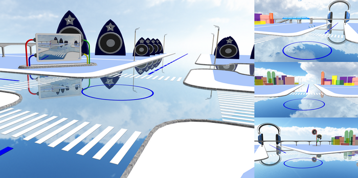 Stage for program MikuMikuDance - Crossing by Gadgeteer61
