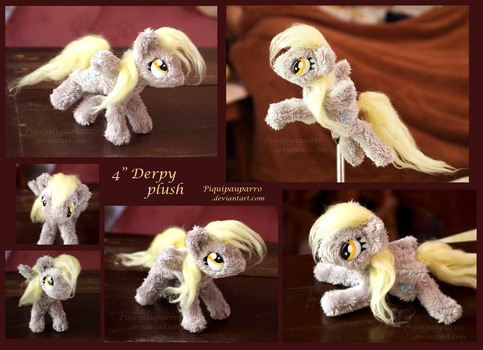 4 inch - Derpy plush by Piquipauparro