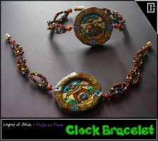 Zelda - Majoras Mask - Clock Bracelet by Riomy