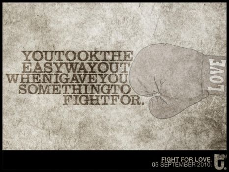 fight for love. by aamplify