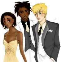 Virgil, Richie, Daisy at Prom by radishface