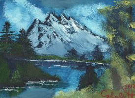 Mountain painting by CalebHarms1996