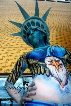 Professional Beauty North demo Bodypaint USA by Bodypaintingbycatdot