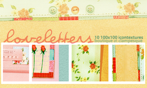 texture set 01:  love letters by goneatmidnight