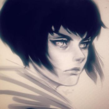 Motoko doodle by Krizy