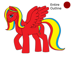 Third Ponysona: Scarlette Scribbles Reference by MLP-HeartSong-FiM