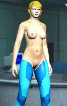 Naked Samus by wikwayer