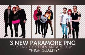 3 NEW PARAMORE PNG'S by justaghoost