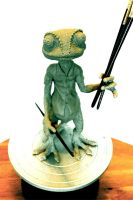 Rango Really Likes Sculpting by Herr-Sandslott