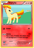 Ponyta Card by SkySwordHilty