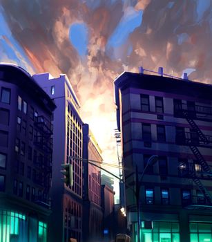 Background practice - Spring Street by Vinsuality