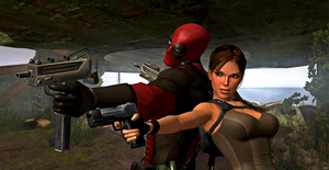 Lara And Deadpool ! ( TR Underworld Version !) by CyberBrian360