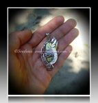'Dragon heart' sterling silver pendant (SOLD) by seralune
