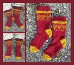 Marsala - Nordic summer socks by KnitLizzy