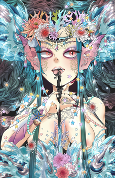 collab: mermaid by minnoux