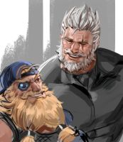 Reinhardt and Torbjorn by yy6242