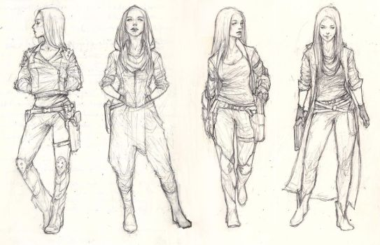 Character Sketches by JujuFei