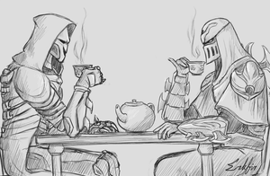 Tea Party with Reaper and Zed by Erkfir