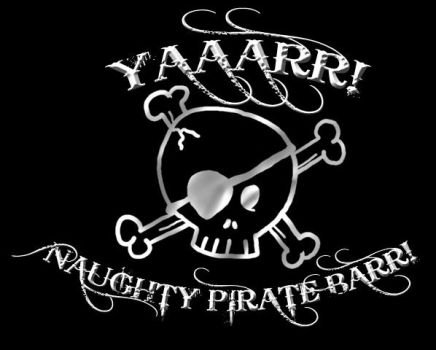 NAUGHTY PIRATE BARR logo by DoctorRhodes