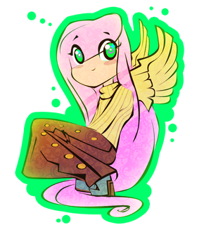 Fluttershy Chibi thing by PixxlSugr