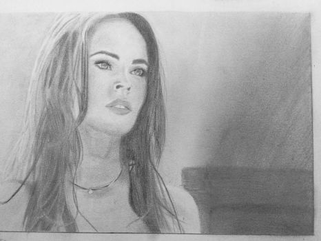 Megan fox drawing  by nancybraun1997