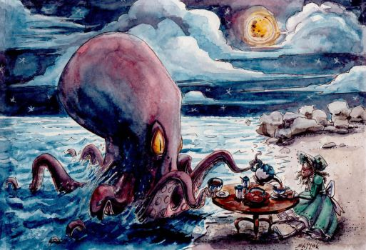 Octopus tea party by Penfield06