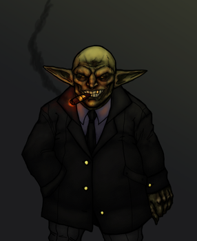 Conrad Gomorrah, the Goblin Mob Boss by OnHolyServiceBound
