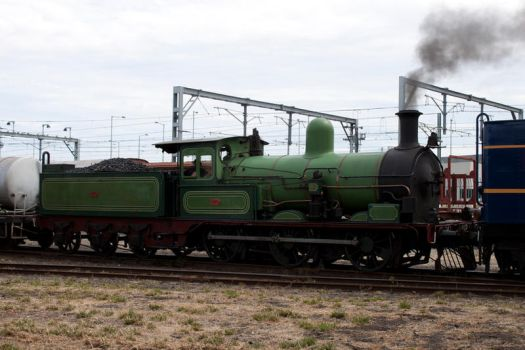 Green Steam Train K112 Stock by CNStock