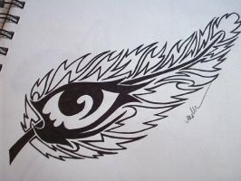Feather with eye by Lady-Anwe