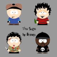 Sum 41 in South Park by drowns