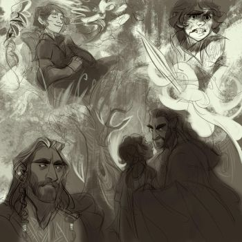 Hobbit Sketches by kallielef