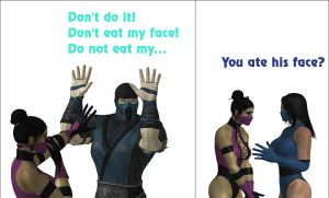 Mileena ate his face by Simony17y