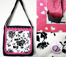 Black and Pink Classy Bee Bag by Teena-Bee
