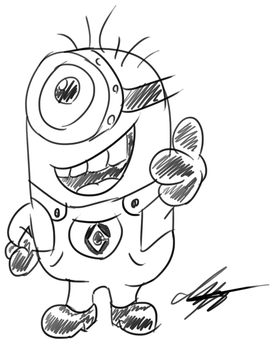 Minion Quick Sketch by stewi0001
