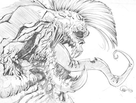 Mutated Mohawk Monster by Frodude13