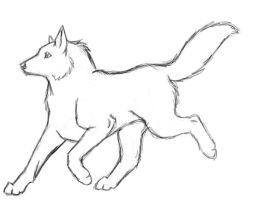 wolf lineart by Morgan-Michele