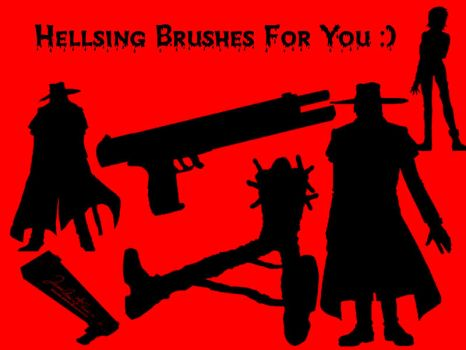 Hellsing Brush Pack by wolfkid15