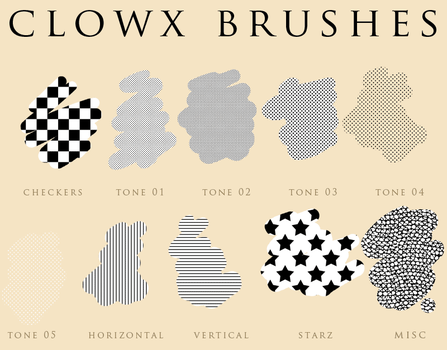 Photoshop pattern for comic by clowx