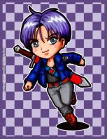 Fanart - Mirai/Future Trunks chibi by VisionVelocity