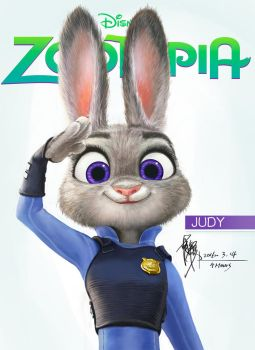 2016-3-14Zootopia_Judy by yuilovepainting